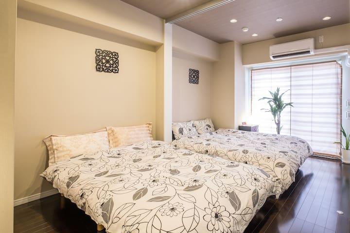 Namba Area 3/25 OPEN! Luxury & Clean Room Sta5min!