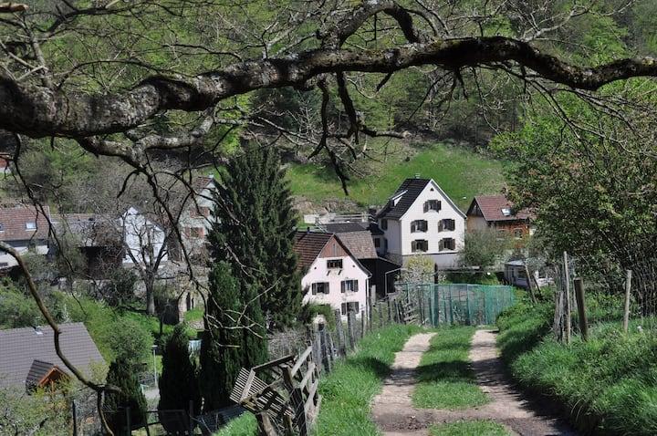 Gîte dans petit village tranquille
