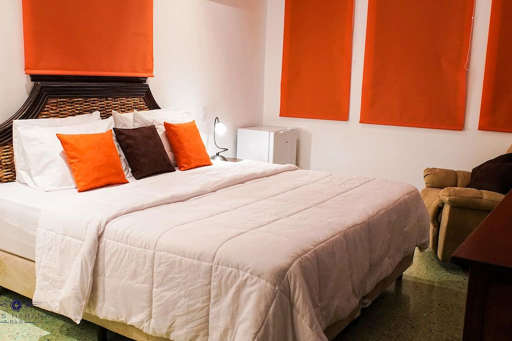 Room 2: Privacy, king size bed, air conditioner