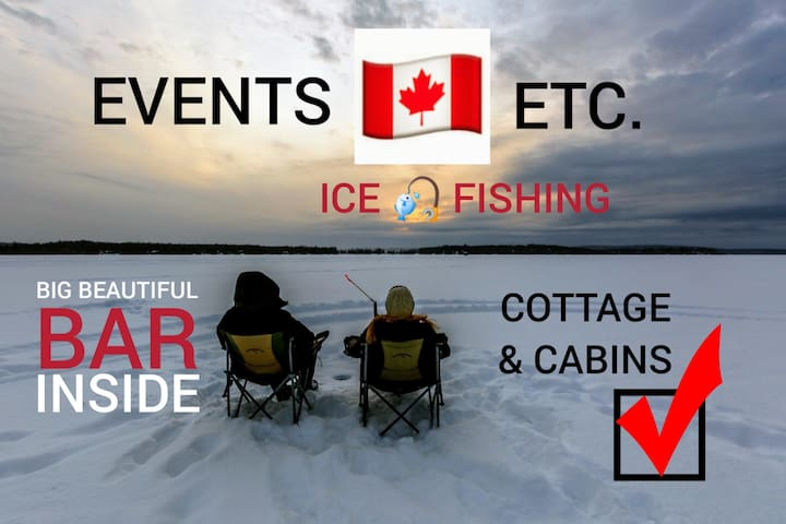 EVENTS💝ETC. 🎣 ICE 🎣 FISHING Cottage & Cabins