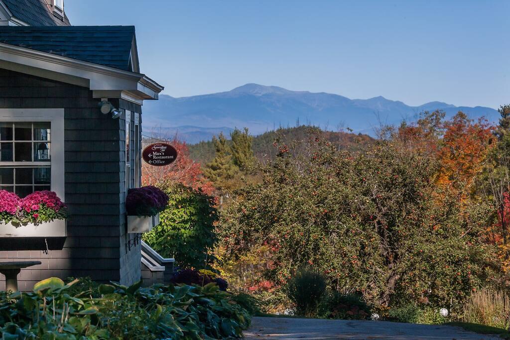 View of Mount Washington and the Presidential Mountain Range.