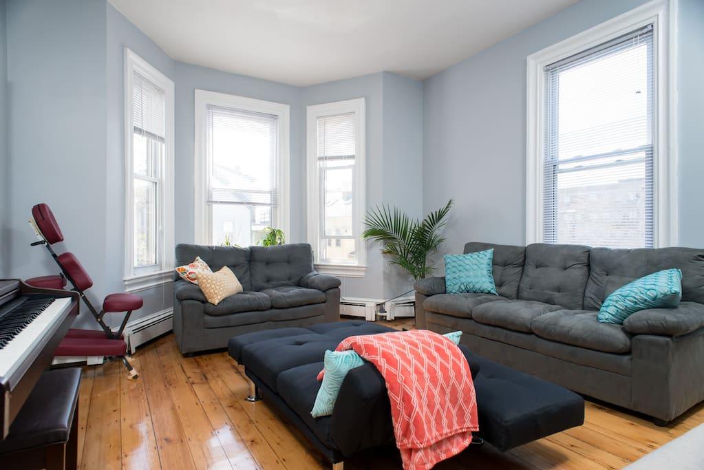 Bright common living area.