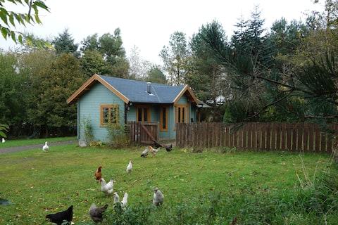 Odľahlá chata na pokojnej rodinnej farme