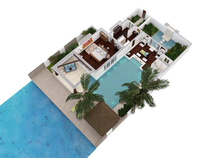 Ocean Pool House · Dinner · Naladhu Private Island