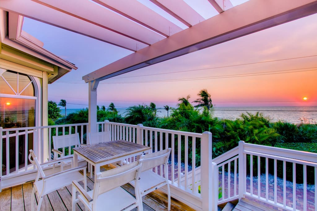 Patio view of sunset