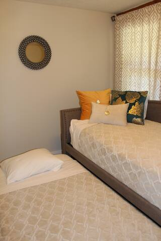 Front bedroom has a twin trundle bed, great area for the kids to sleep.