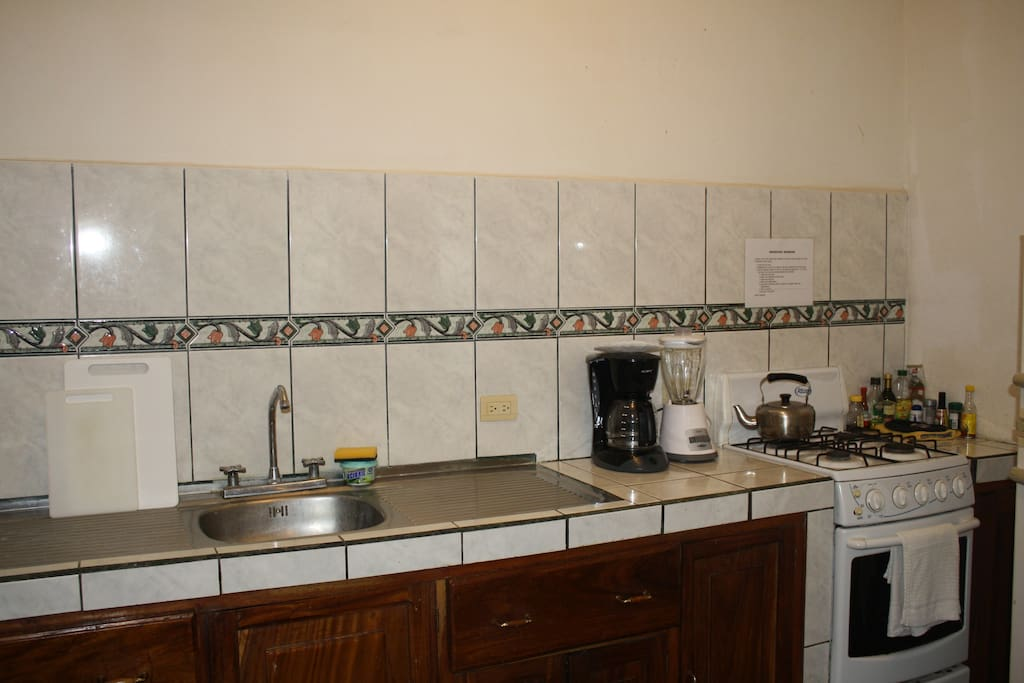Fully equipped kitchen has everything you will need to dine in