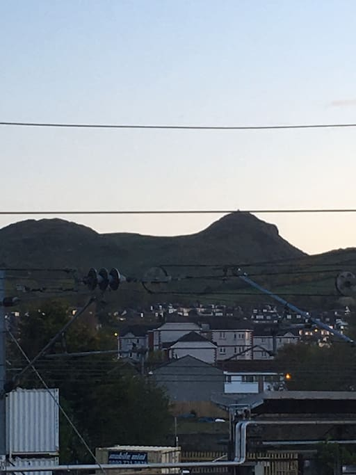 View of Arthur Seat from room