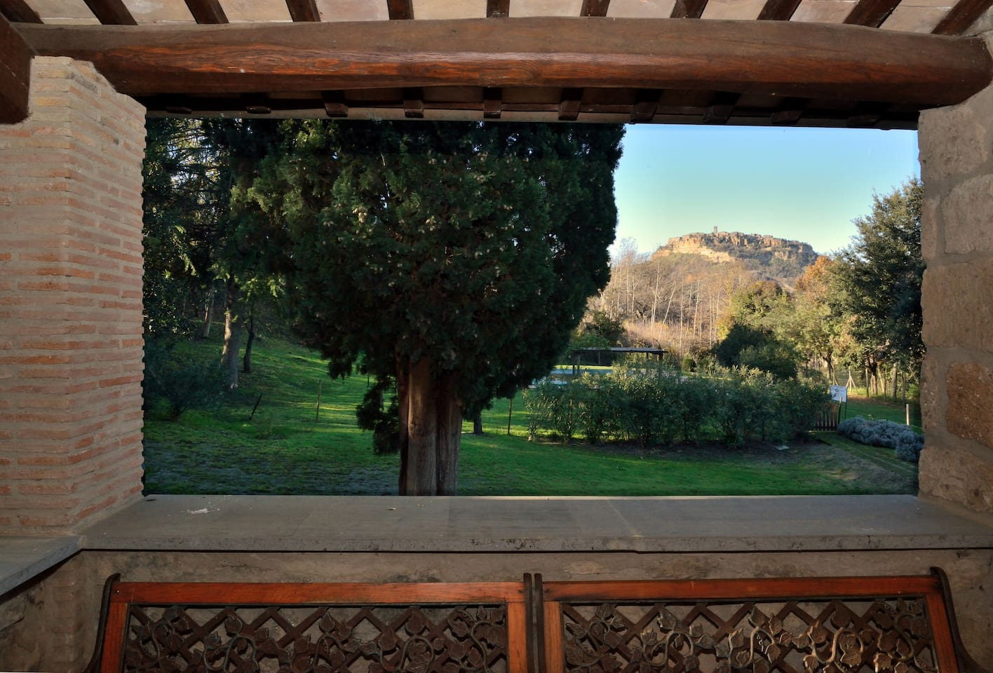 Panorama su Civita di Bagnoregio