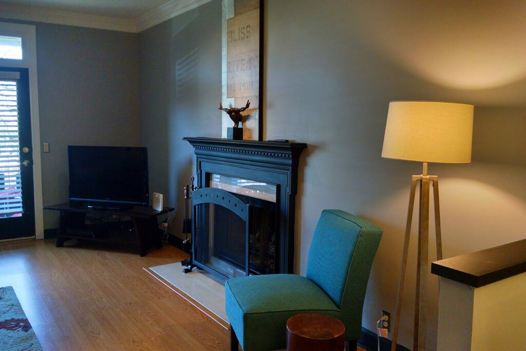 Fireplace and cable tv