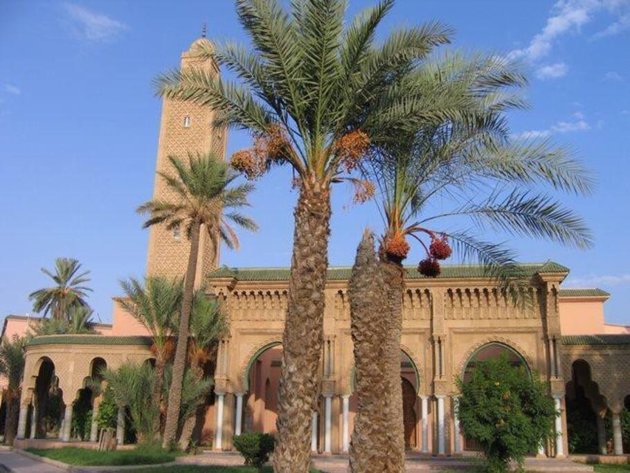 jardins a l'entrée de résidences +  mosquée