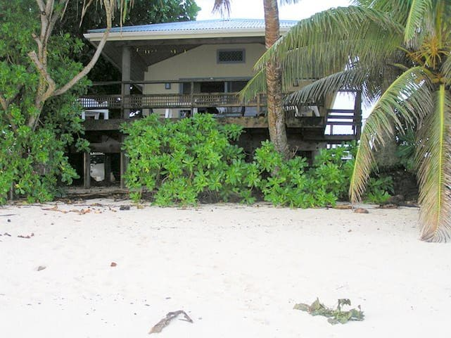 Vaka Beach is just that - on the beach! there are three steps from the deck to take you on to the white sand and in to the lagoon. this free standing holiday unit is not attached or part of another building giving you privacy & a feeling of space.