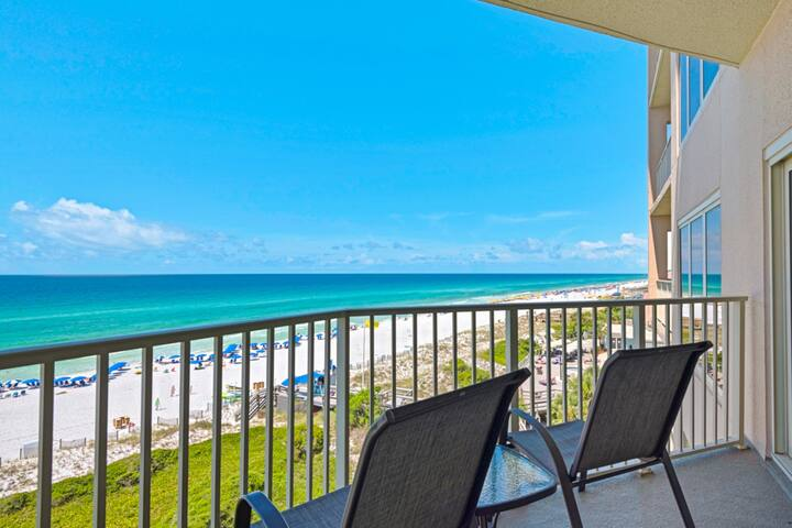 TOPS'L beachfront condo featuring shared pool & hot tub + private balcony view