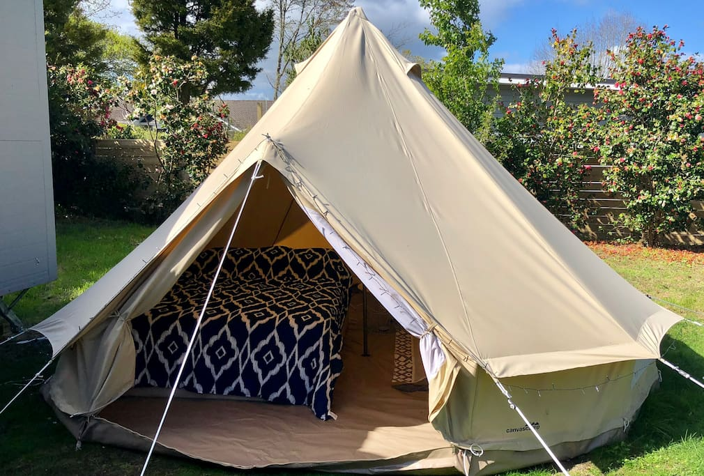 Tent with queen sized bed