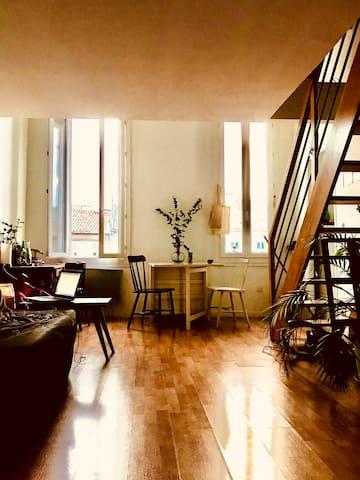 Appartement calme et lumineux à 5 min de la Plaine