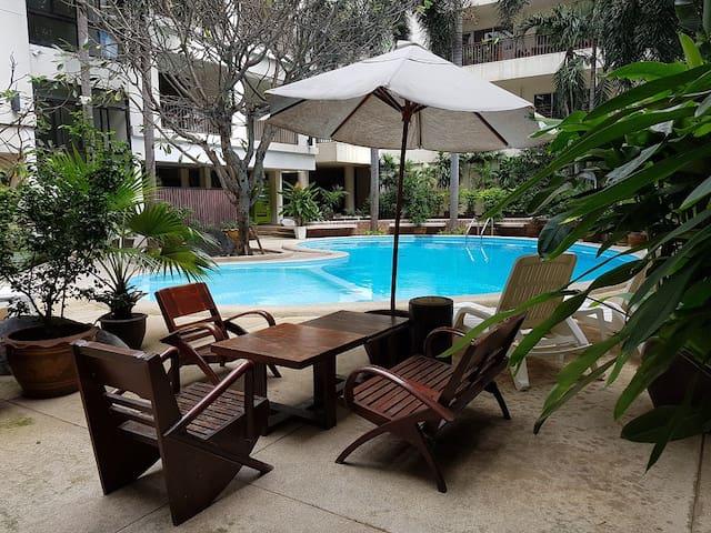 Private double room - Silom, city centre (我会说中文) - Bangkok - Wohnung