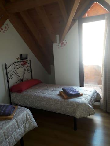 Dormitorioy terraza