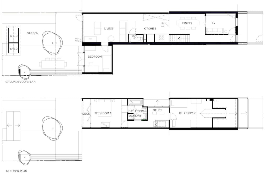 Plans of terrace, layout and garden shown.