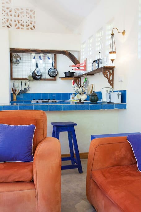 mini kitchen well equipped for short term stays