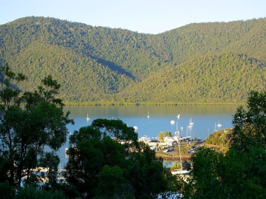 View of National Park and Shute Harbour.
