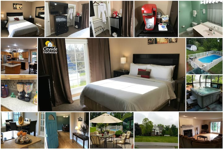 Hazel Hold'Em Room (Queen) | Breakfast & Amenities - Elizabethtown - Hus