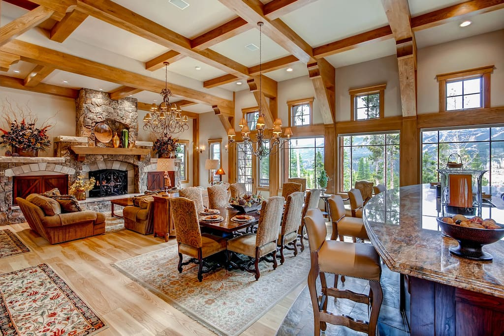 View of Main Level - open floor plan with Kitchen, Dining and Great Room - Stunning Views!