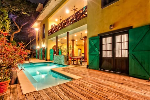 Riverfront Retreat w/ Balcony, WiFi, Partial AC, Shared Pool, Private Hot Tub