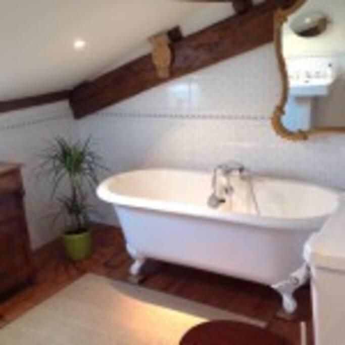 La salle de bain des hôtes.