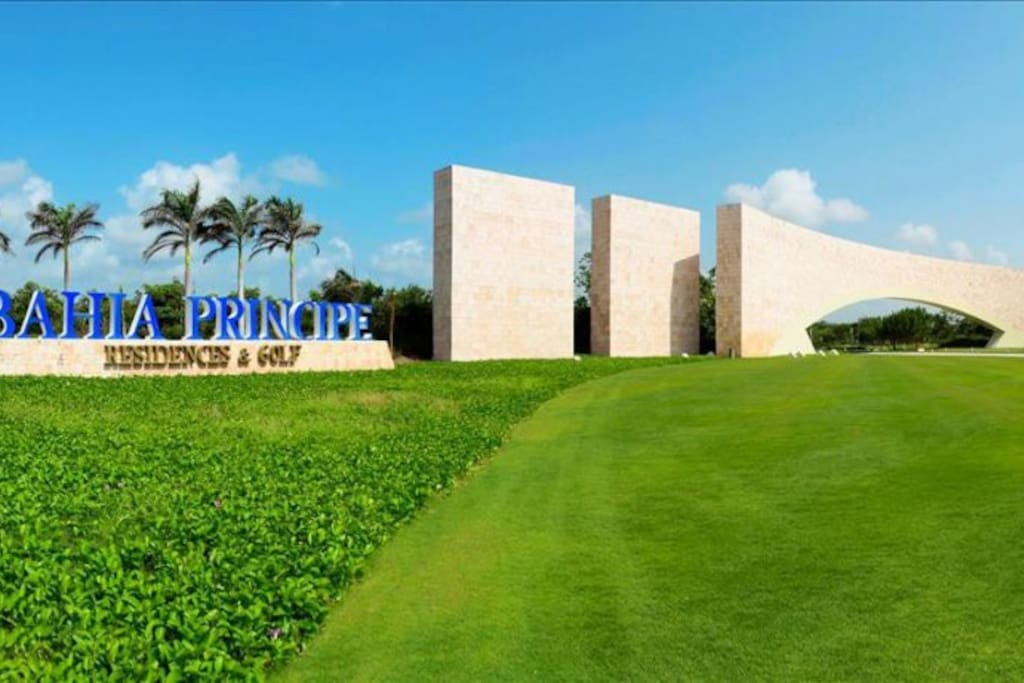 Entrance into Bahia Principe Residences and Golf ( On site security 24/7)