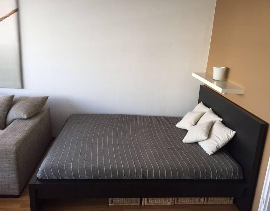 Das Bett in 2,20m Länge