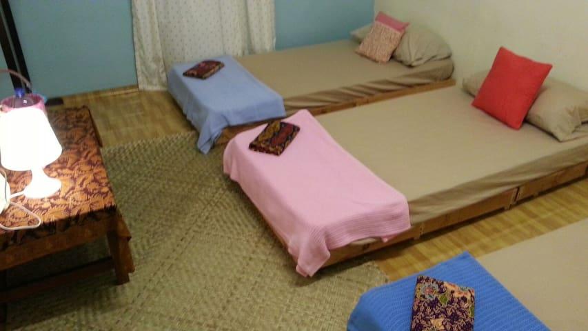 Room 1 . Sleeps 3 people.