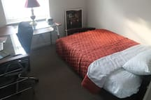 Office and spare bed. Full-size Futon w/ interspring mattress