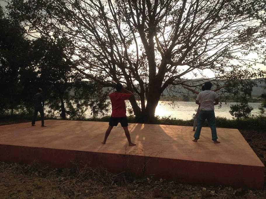 Outdoor Yoga session