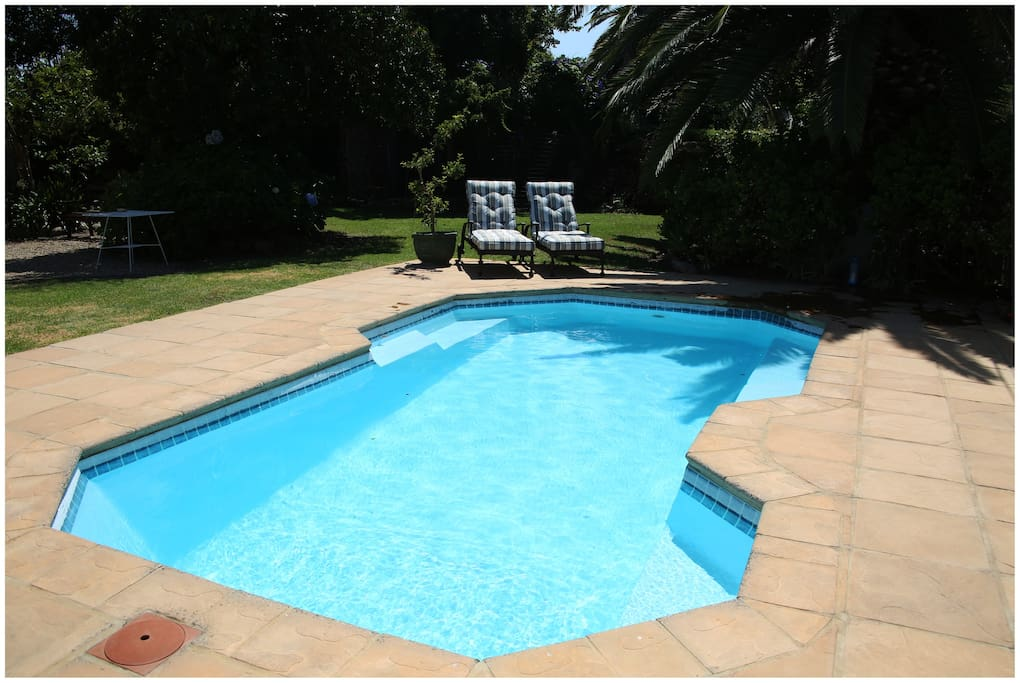 Swimming pool for cooling off in summer.