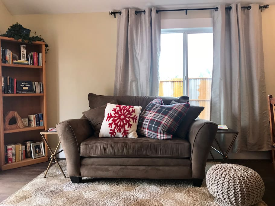 Read a book or watch cable TV in our comfortable living room.