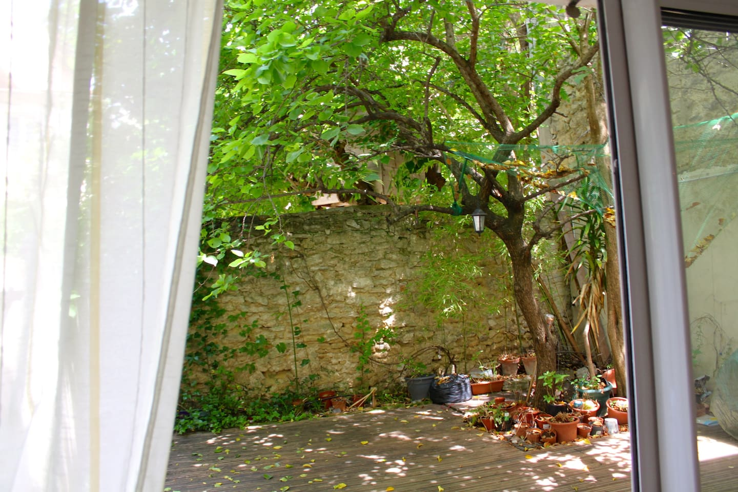 Private couryard, the view from a living room