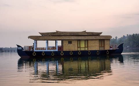 Houseboat stay in the Emerald Backwaters of Kerala