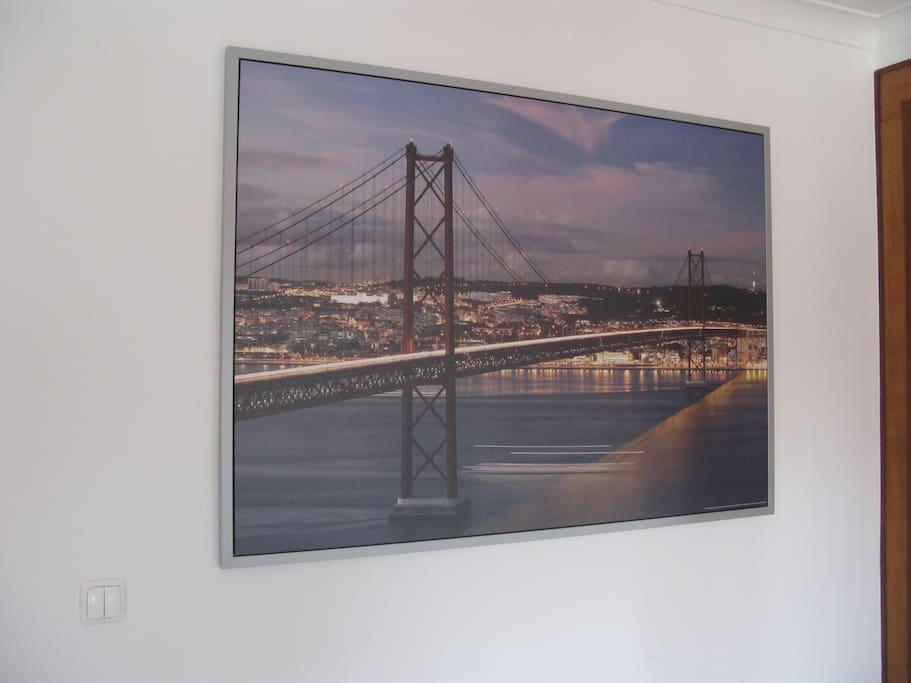 Quadro com a Ponte 25 de Abril em Lisboa