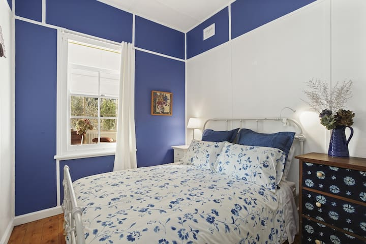 Let the beautiful blues in Bedroom one send you off to a good night's sleep!