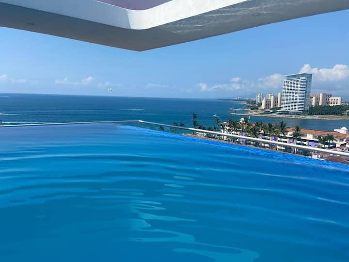Amazing Beach View, Brand New & Cozy Apartment !!