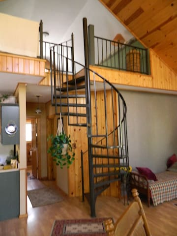 Spiral  Stairs to the Loft bedroom