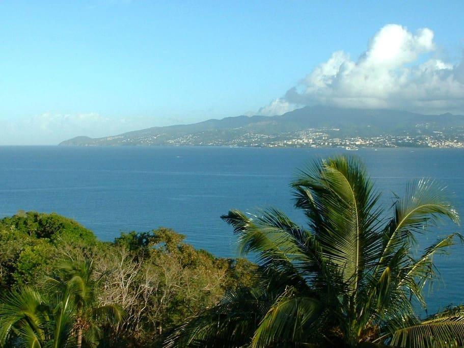 La superbe vue sur la Baie de Fort-de-France.