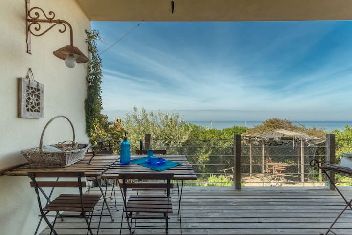 House with a beautiful- sea view - Cabras