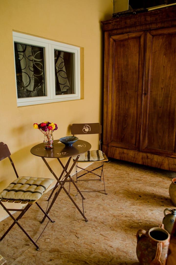 Chambre agréable face au Mt Pilat
