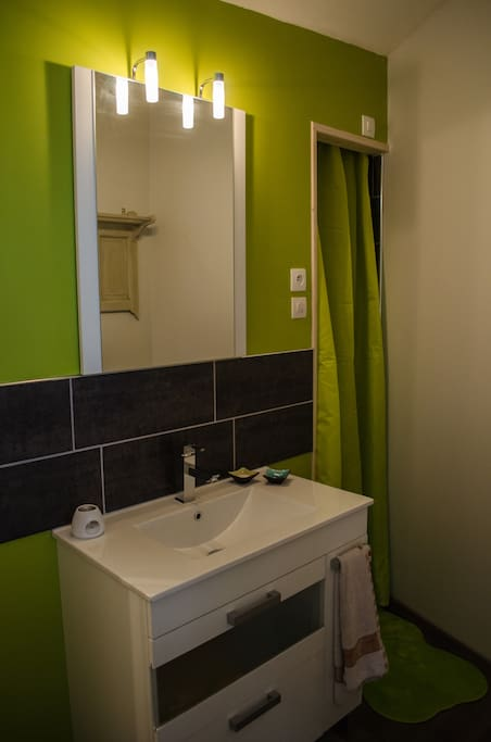 WC et salle de bain privés - douche à l'italienne