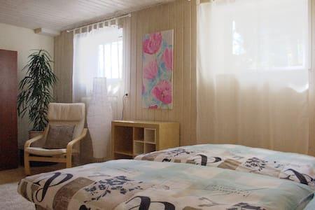 Helle Souterrain-Wohnung mit Garten - Thaining