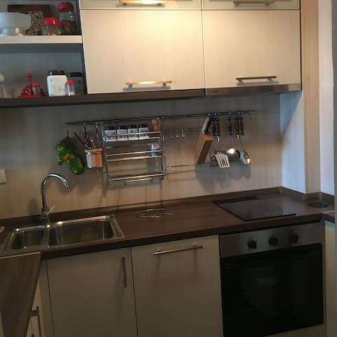 Kitchen with Dishwasher machine