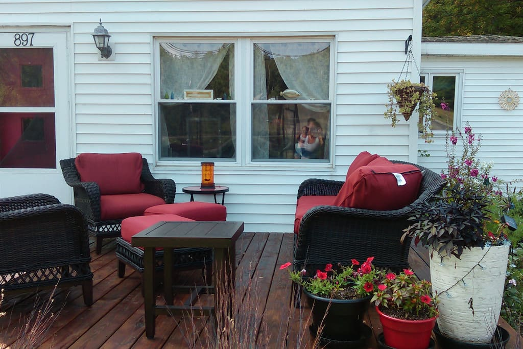 Comfy deck seating area