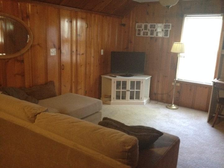 Upstairs, Knotty pine get-away
