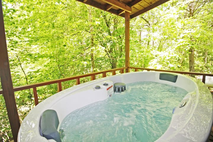 Hot Tub on the Porch of Cabin #3